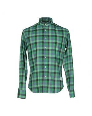 Pубашка THE EDITOR. Цвет: зеленый