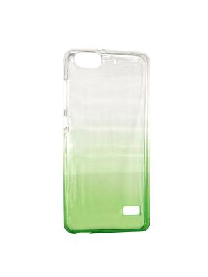 Крышка задняя для Huawei 4C Силикон IQ Format. Цвет: зеленый