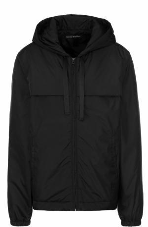 Куртка на молнии с капюшоном Acne Studios. Цвет: черный