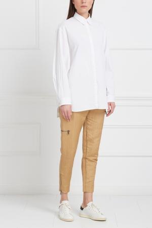 Однотонные брюки Viva Vox. Цвет: бежевый