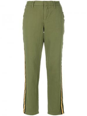 Укороченные брюки с полосками по бокам Zadig & Voltaire. Цвет: зелёный