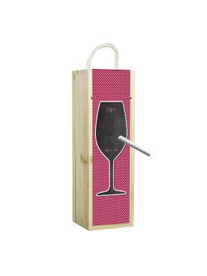 Подарочная коробка для вина Contento. Цвет: черный, красный