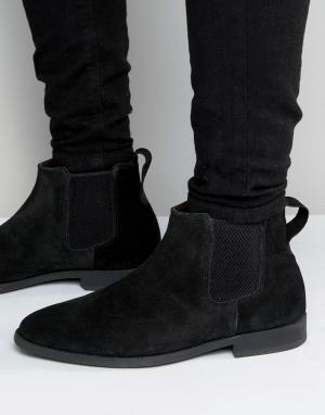 KG Kurt Geiger Черные замшевые ботинки челси By Guildford. Цвет: черный