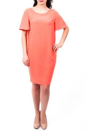 Платье D.Exterior. Цвет: коралловый