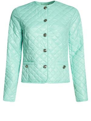 Куртка Oodji. Цвет: бирюзовый