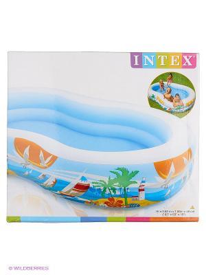 Бассейн лагуна Intex. Цвет: голубой