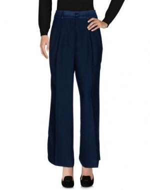 Повседневные брюки SOALLURE. Цвет: цвет морской волны