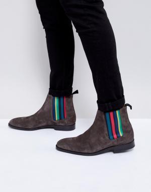 PS Paul Smith Серые замшевые ботинки челси Gerald. Цвет: серый