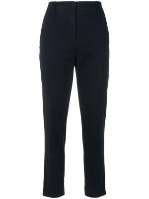 Укороченные брюки с завышенной талией Luisa Cerano. Цвет: синий