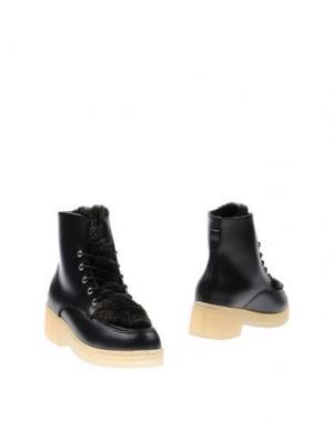 Полусапоги и высокие ботинки F-TROUPE. Цвет: черный