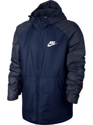 Куртка M NSW SYN FILL JKT HD FLC LN Nike. Цвет: синий