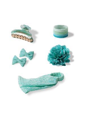 Комплект аксессуаров для волос ALURE AZURE ESLI. Цвет: лазурный
