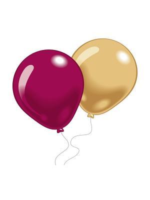 10 шариков (разноцв. модные оттенки) Everts. Цвет: розовый