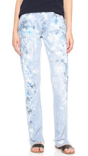 Джинсы-бойфренды Basic Rialto Jean Project. Цвет: мягкий синий/черный/белый