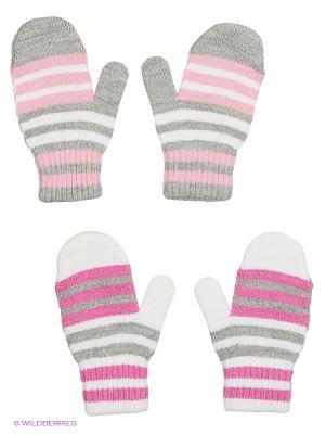 Варежки FOMAS. Цвет: светло-серый, бледно-розовый, фуксия, белый