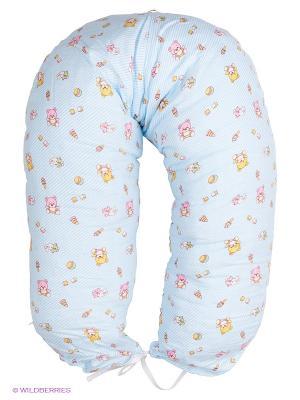 Подушка для беременных и кормления 40 недель. Цвет: голубой