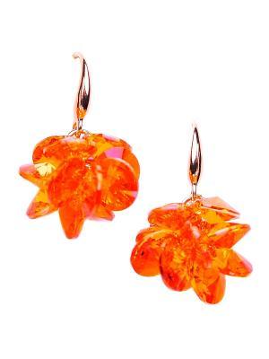 Серьги Only Happy. Цвет: оранжевый, золотистый