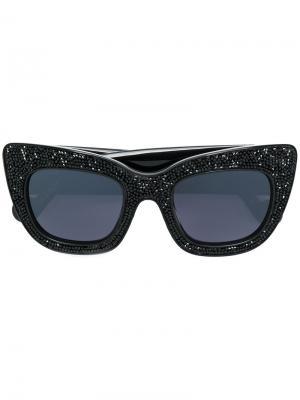 Солнцезащитные очки Alice Goes to Cannes Anna Karin Karlsson. Цвет: чёрный