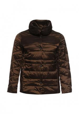 Куртка утепленная Elena Miro. Цвет: коричневый