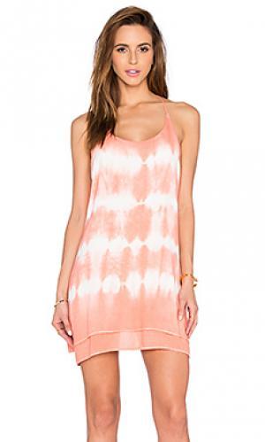 Платье тай дай Bishop + Young. Цвет: коралл