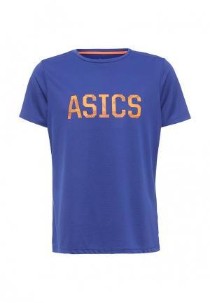 Футболка спортивная ASICS. Цвет: синий
