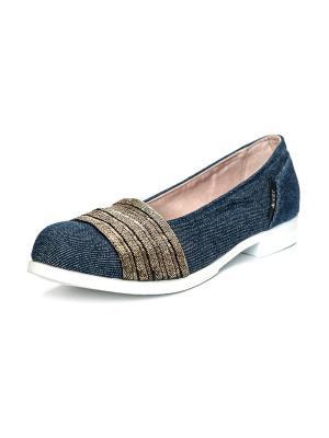 Туфли AZ-ART. Цвет: темно-синий, золотистый