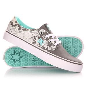 Кеды кроссовки низкие женские DC Trase Tx Se J Shoe Grey/Black/White Shoes. Цвет: желтый,серый