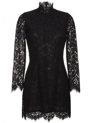 Кружевное платье Jerome Ganni. Цвет: чёрный