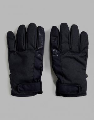 DC Shoes Черные перчатки Snow Deadeye. Цвет: черный