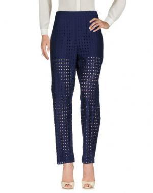 Повседневные брюки MARIA GRAZIA SEVERI. Цвет: темно-синий