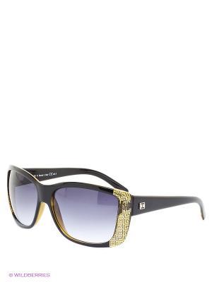 Солнцезащитные очки TOUCH. Цвет: черный