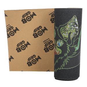 Шкурка для скейтборда  Venom Stitches Black/Green Mob. Цвет: черный,зеленый