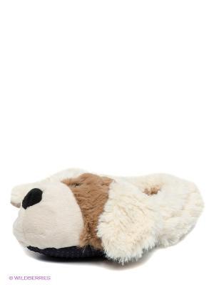 Детские тапочки Щенок Cozy Heads. Цвет: молочный, коричневый