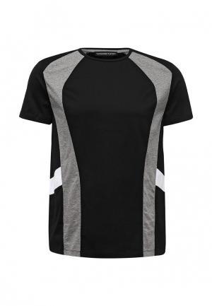 Футболка Trussardi Sport. Цвет: черный