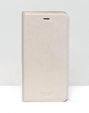 Knomo Чехол для iPhone 6/6 Plus с магнитной застежкой. Цвет: золотой