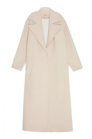 Пальто-макси из шерсти A LA RUSSE. Цвет: бежевый