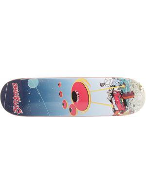 Профессиональный скейтборд ЮFO, размер 8,25x31,75, конкейв Medium Юнион скейтборды. Цвет: синий, желтый, красный