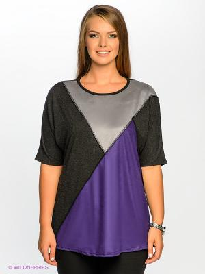 Туника МадаМ Т. Цвет: темно-серый, фиолетовый