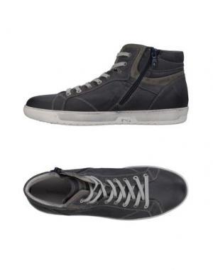 Высокие кеды и кроссовки NERO GIARDINI. Цвет: стальной серый