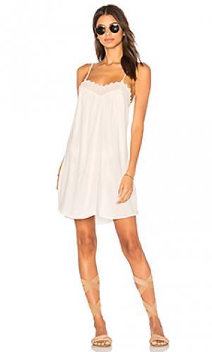 Платье с кружевной отделкой Stillwater. Цвет: белый