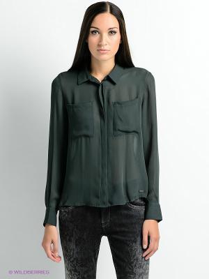 Блузка PEPE JEANS LONDON. Цвет: темно-зеленый