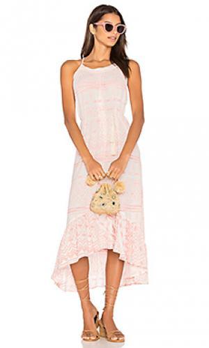 Платье с асимметричным подолом cabo bound Stillwater. Цвет: розовый