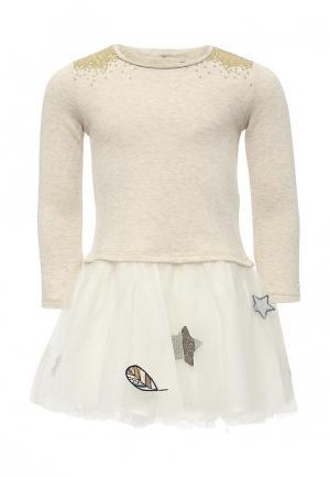 Платье Catimini. Цвет: бежевый