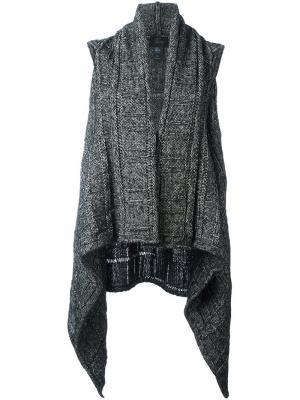 Драпированное трикотажное пальто без рукавов Lost & Found Ria Dunn. Цвет: серый