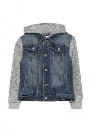 Куртка джинсовая Blukids. Цвет: синий