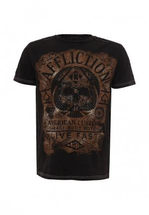 Футболка Affliction. Цвет: коричневый