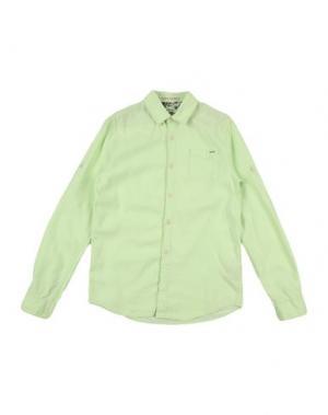 Джинсовая рубашка SCOTCH & SHRUNK. Цвет: кислотно-зеленый