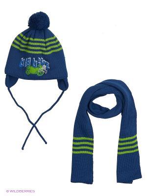 Шапка и шарф Grans. Цвет: морская волна, салатовый