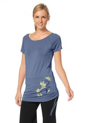 Спортивная длинная футболка, OCEAN SPORTSWEAR. Цвет: светло-синий