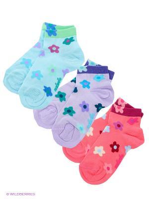 Носки, 3 пары Malerba. Цвет: бирюзовый, сиреневый, коралловый
